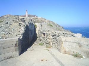 Vista de de la fortificació més propra a la punta.
