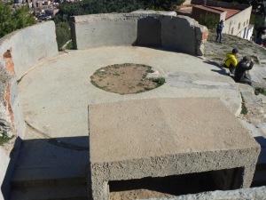 Una de les plataformes del Turó del Carmel.