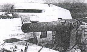 Malgrat la imatge no sigui de la millor qualitat, veurem un canó que si no és un Ordoñez s'assembla molt. Aquest instal·lat en el que encara és la bateria de Palamós.