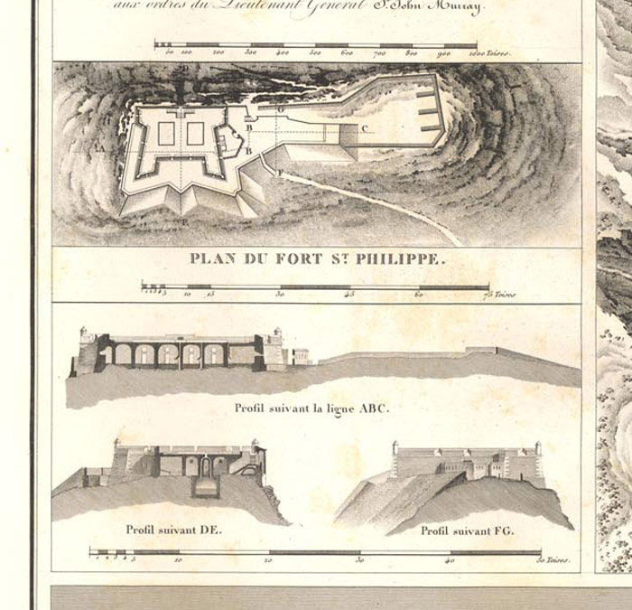 Mapa de la fortalesa, ampliat del mapa general de Suchet.
