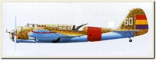 El Tupolev SB2 o Katiuska fou el millor bombarder de la Republica.