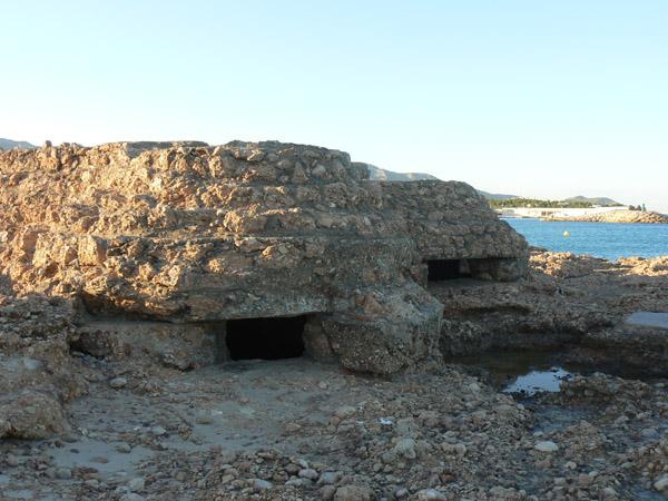 El bloc central del niu de metralladora us mostrarà un gran exemple de fortificació de costa en Guerra Civil.